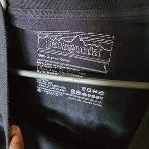 Patagonia Shirts - Patagonia Logo Long-Sleeve Responsibili-T-Shirt